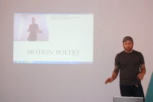 Adam Bradley demonstrates his Motion Poetry