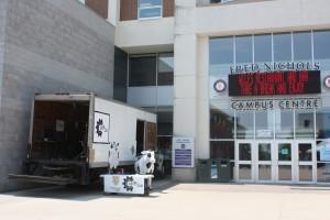 CML Truck in the WLU Arts Quad